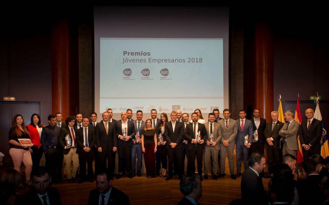 Más de trescientos asistentes y sesenta proyectos en los Premios AJE CANARIAS Jóvenes Empresarios 2018