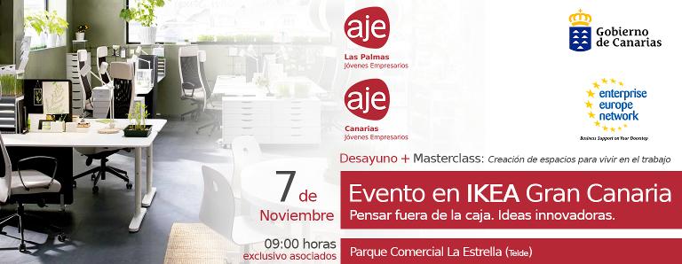 """Desayuno de trabajo con Ikea Gran Canaria con Masterclass: """"Creación de espacios para vivir en el trabajo"""""""