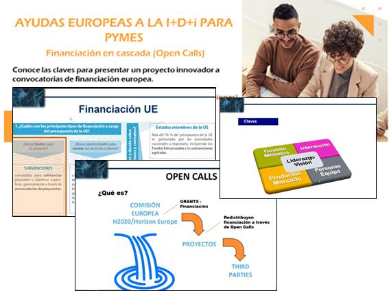 """Presentaciones : Programa formativo de Convocatorias europeas de financiación en cascada, """"Open Calls"""""""