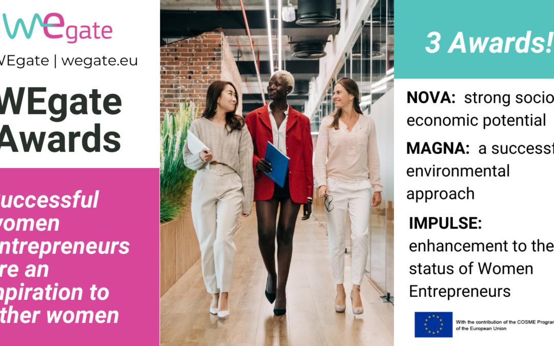 Premios WEgate 2021 para mujeres emprendedoras en Europa